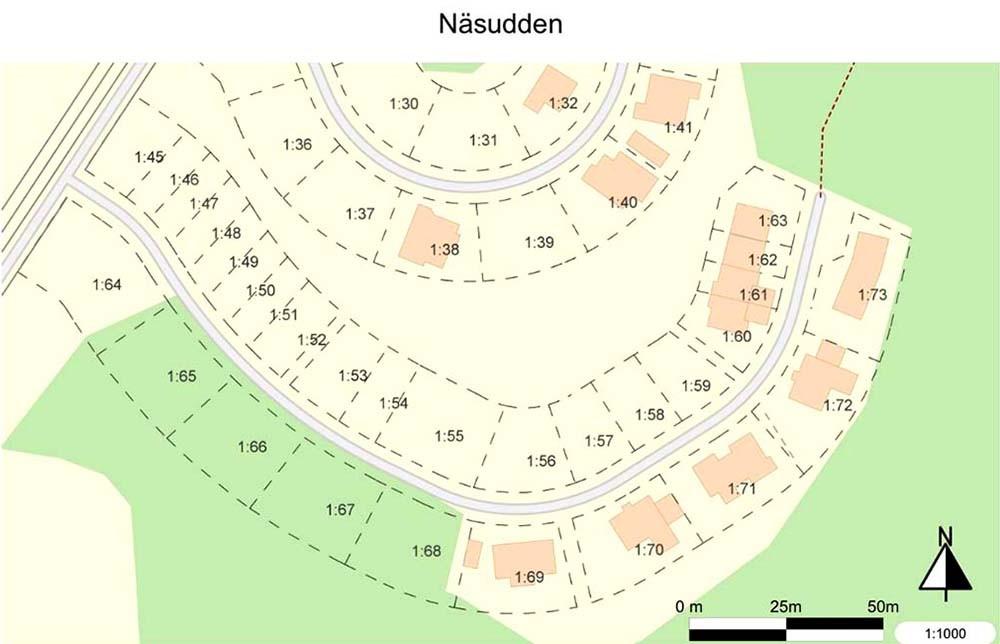 Sötsjöbaden karta Näsudden